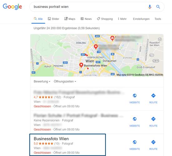Erfolgreiches Local SEO für Businessfoto Wien